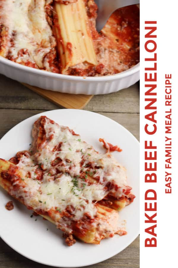 baked beef cannelloni recipe for easy family meals