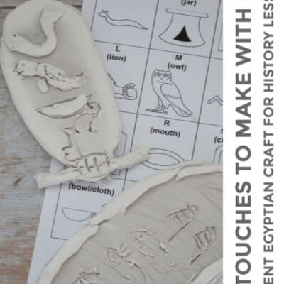 Ancient Egyptian Clay Cartouches to Make with Kids