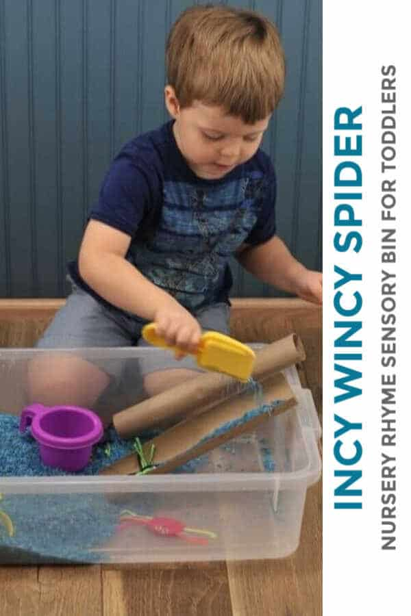 Incy wincy Spider Sensory bin for toddlers