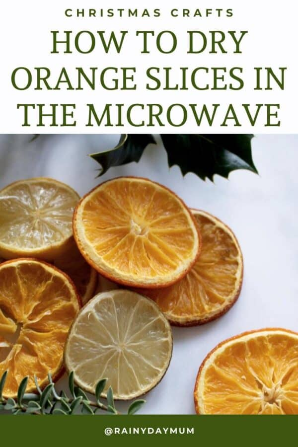 Christmas Craft Hack to dry orange slices in the microwave in just 1 hour