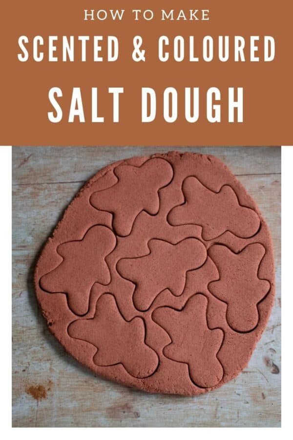 Scented and Coloured Salt Dough for Gingerbread Ornaments and Decorations at Christmas