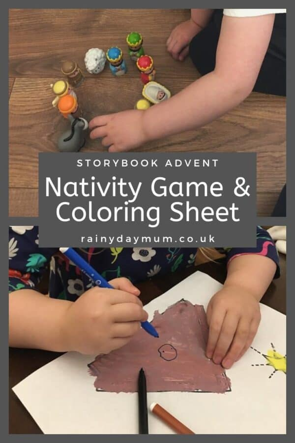 3 simple nativity activities for preschoolers game, colouring sheet and traditional tableau