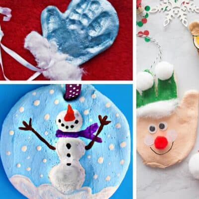 Hand Print Salt Dough Ornaments to Make with Kids