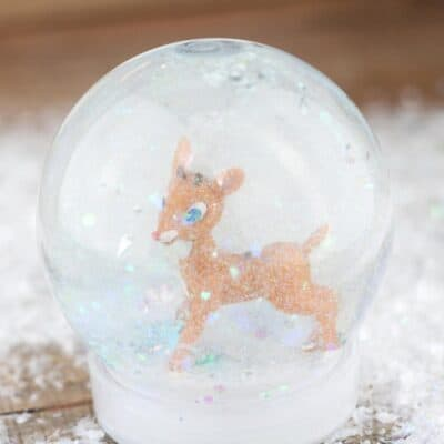 Rudolph the Red-Nosed Reindeer Snow Globe Craft for Kids