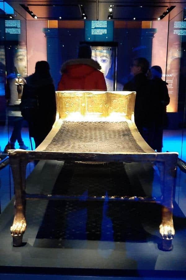 golden bed one of the examples of artefacts that have never been out of egypt before