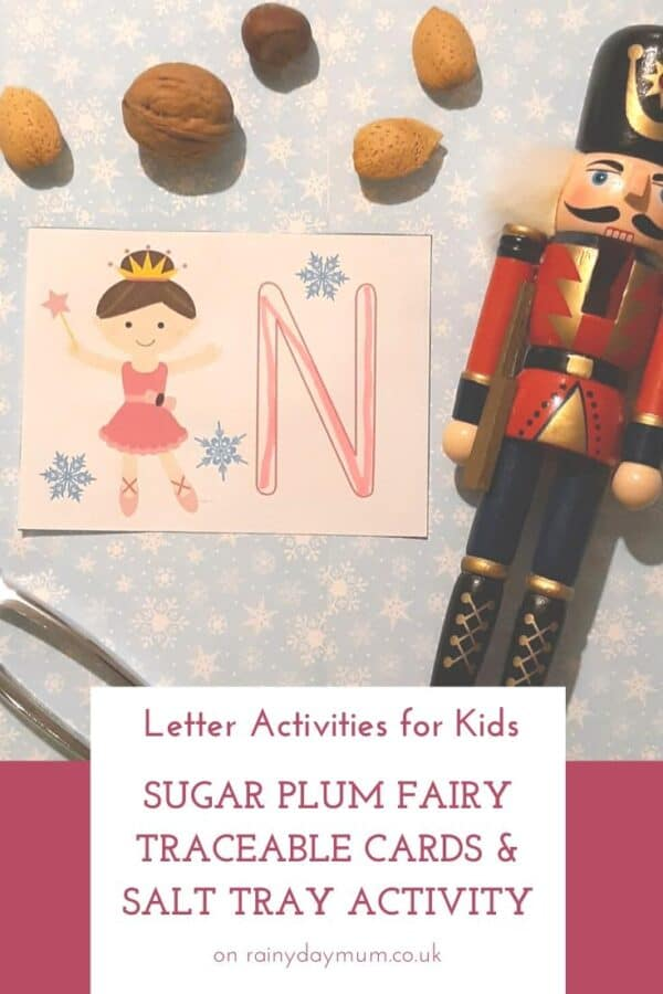 letter activities for kids - sugar plum fairy from the nutcracker printable letter formation cards