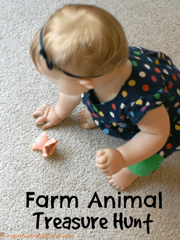 farm animal treasure hunt activity for toddlers