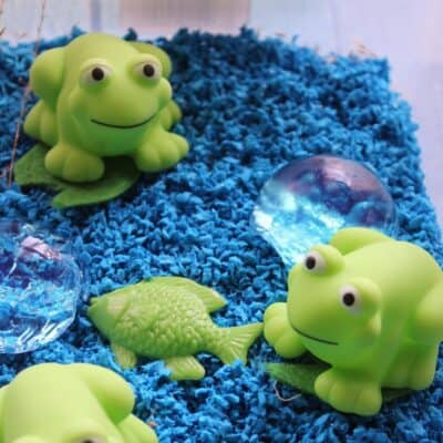 Five Little Speckled Frogs Sensory Bin for Toddlers