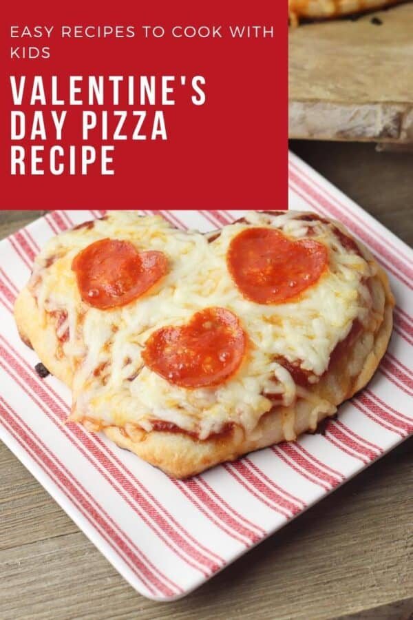easy valentine's day pizza night recipe to cook and enjoy with the kids