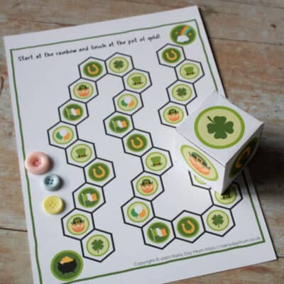 FREE Printable St Patrick's Day Board Game for Toddlers and Preschoolers