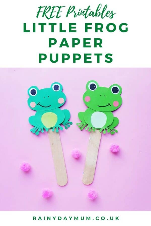 free printable little frog paper puppets