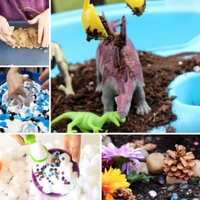 Food Free Sensory Bins for Toddlers and Preschoolers