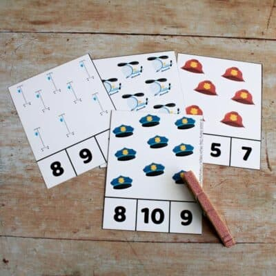 Community Helpers Count and Clip Cards: The Emergency Services