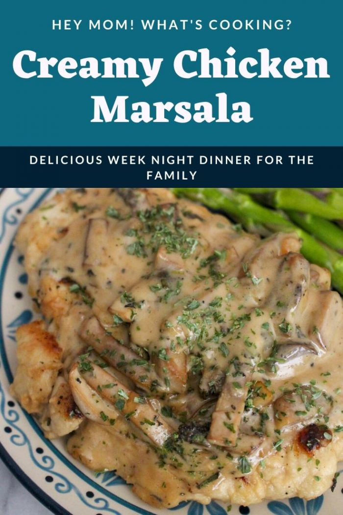 creamy chicken marsala for week night dinners with the family