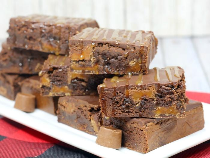delicious rolo brownies box mix