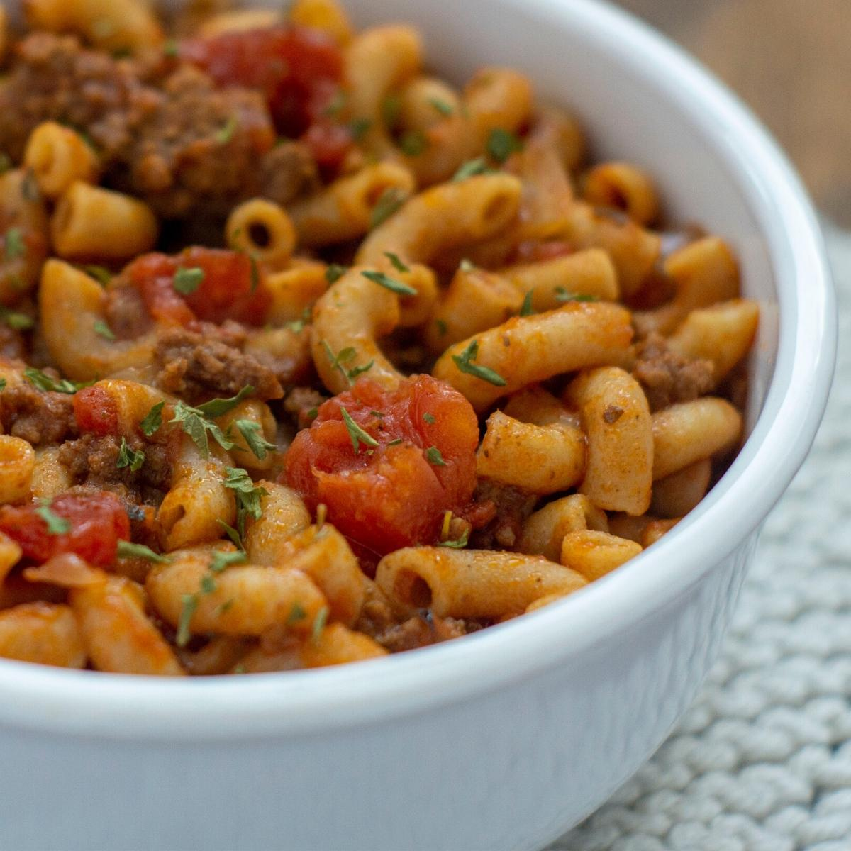 heaty home cooked beef goulash for chilly days when comfort food is needed for family dinners