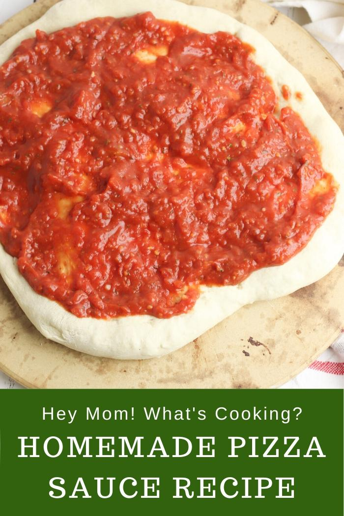 homemade pizza sauce in the food processor