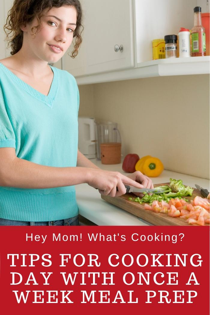 Cooking day tips for once a week meal prepparing
