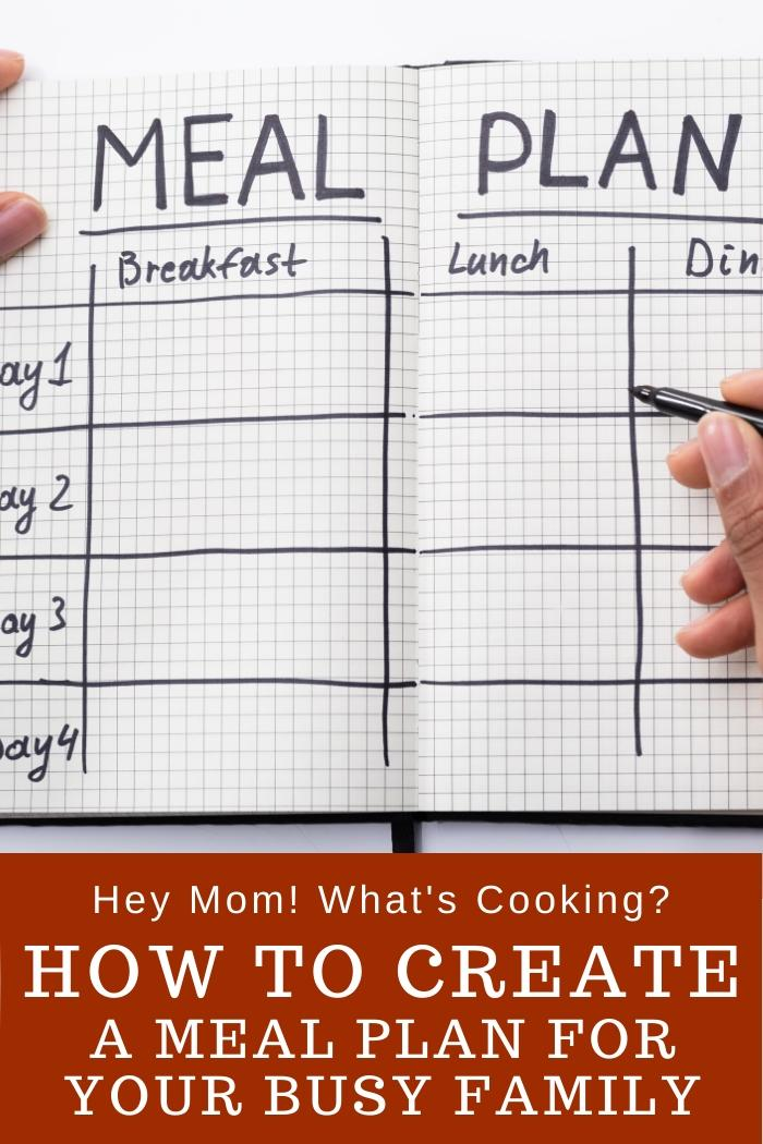 How to create a family meal plan when you are all busy