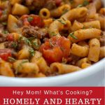homely and heart beef goulash dinner recipe with pasta