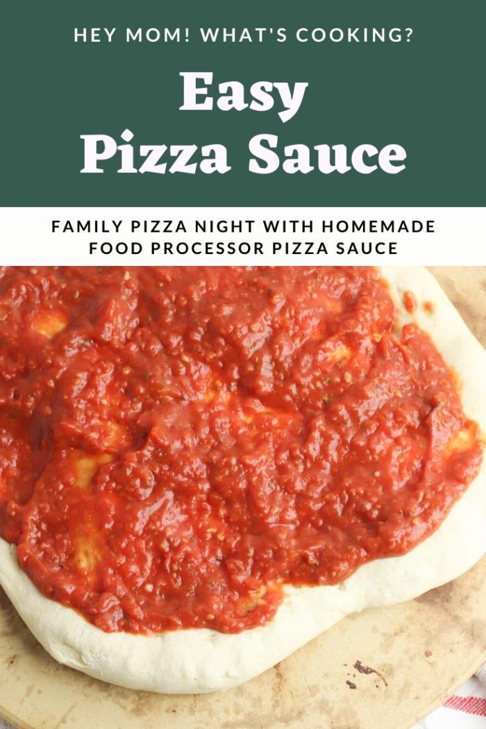 easy pizza sauce in the food processor