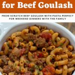 simple recipe for beef goulash
