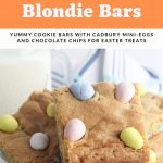Easter blondie bars recipe