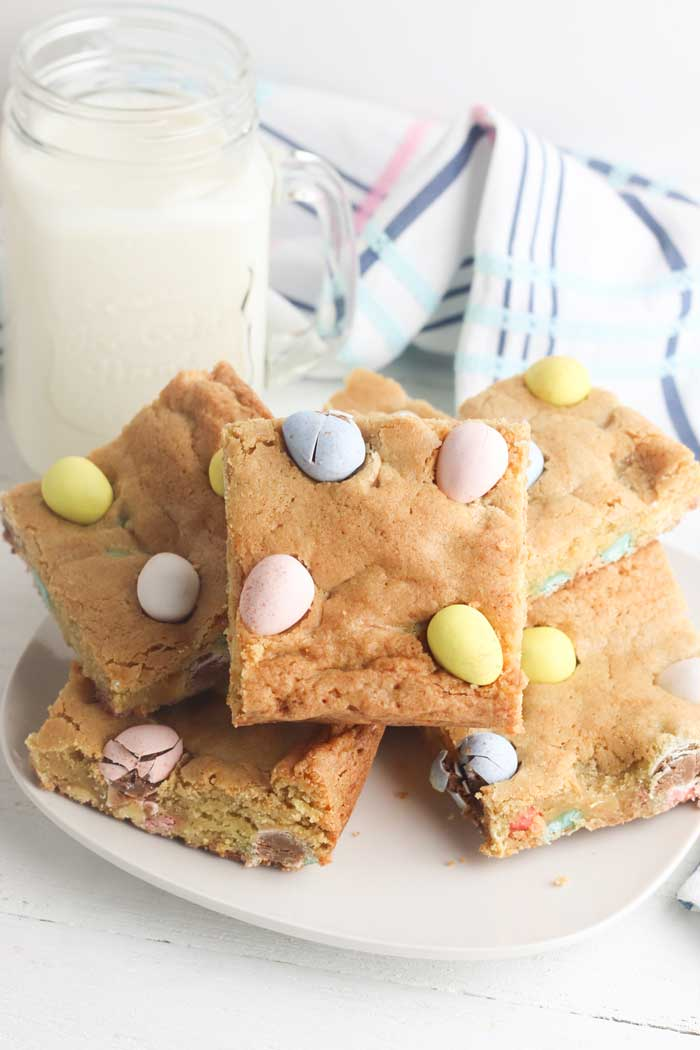 easter treats a cookie bar recipe with mini eggs