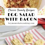 classic egg salad with bacon