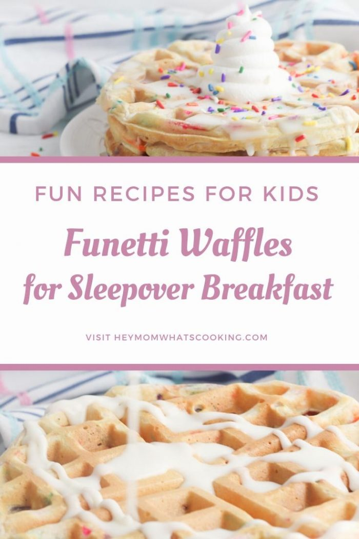 funetti waffles for kids sleepovers