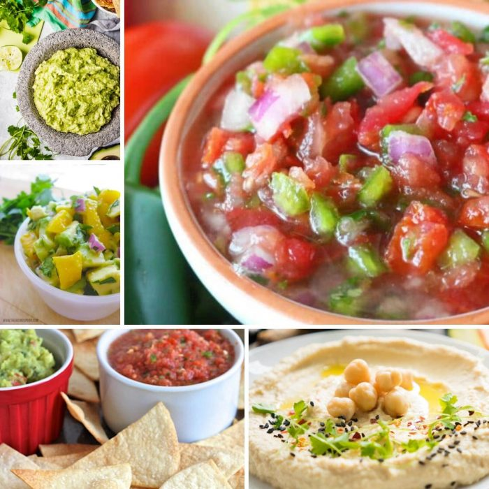 Summer appetizer recipes for salsas, chips, and dips