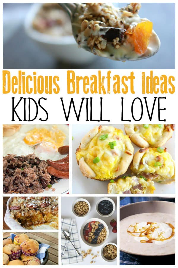 collage of breakfast ideas that kids will love