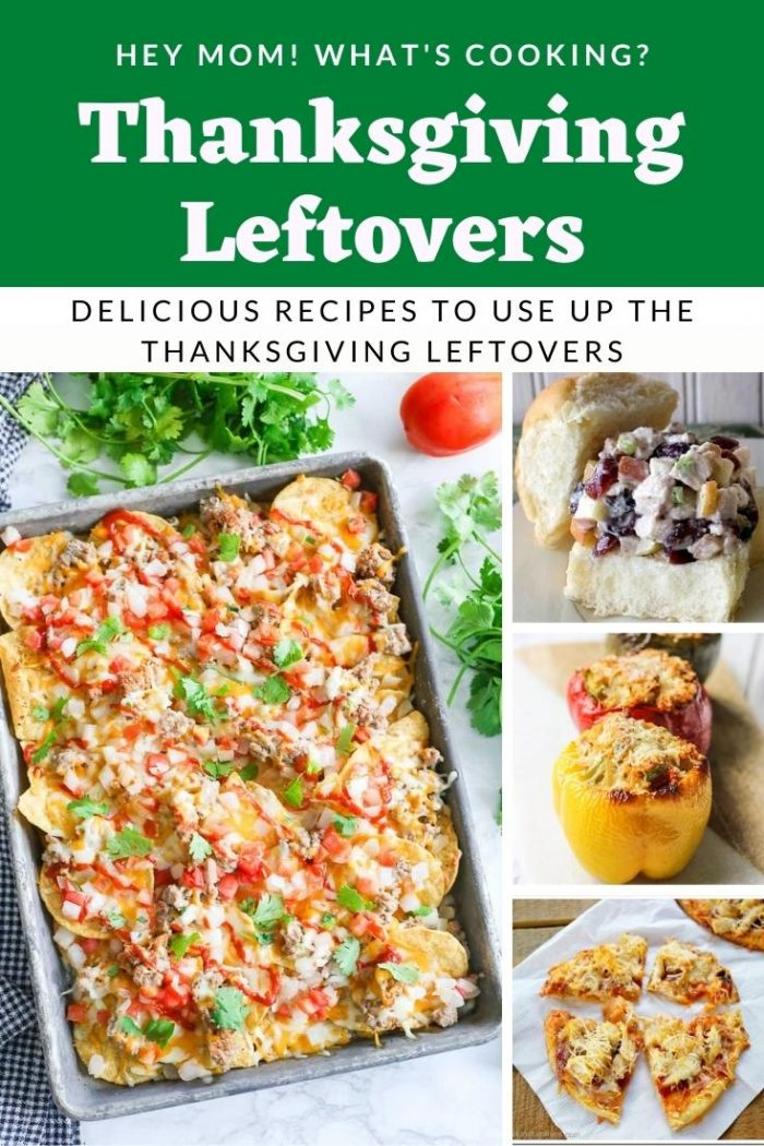 Thanksgiving leftovers pin image