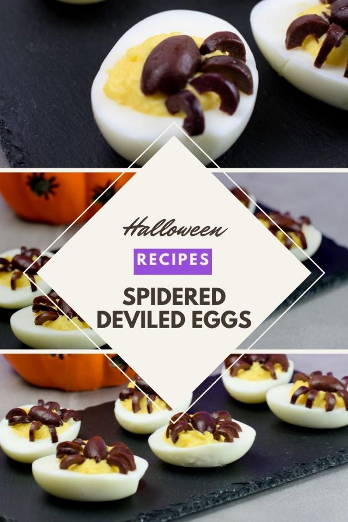 halloween recipes spidered deviled eggs recipe for appetizers