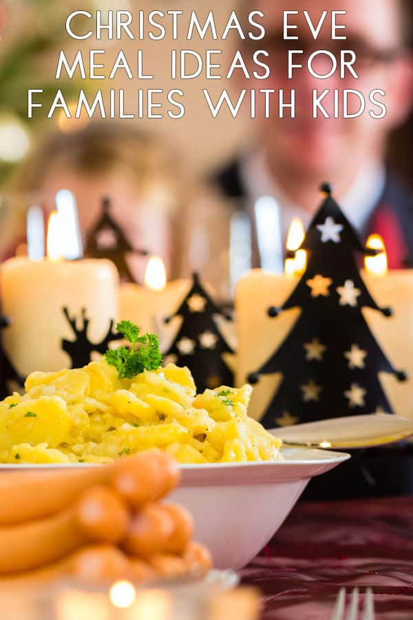 pinnable image  for Christmas Eve Meals Ideas for Families