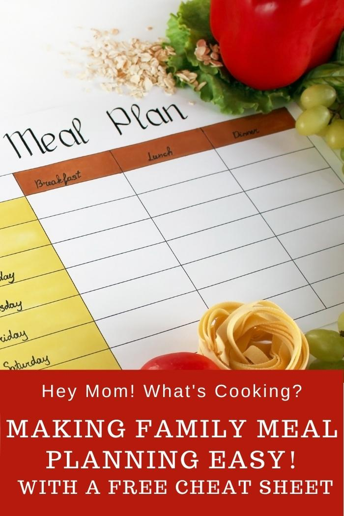 Pinnable image for the ultimate guide to meal planning for busy moms