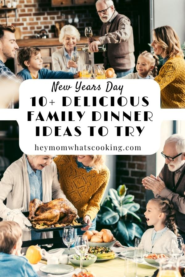 collage for pinterest of 10 family meal ideas to try to celebrate new years day