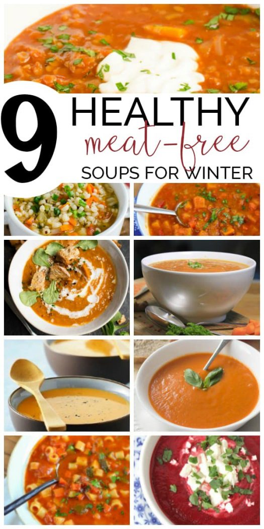 Long pin for healthy meat free soup recipes