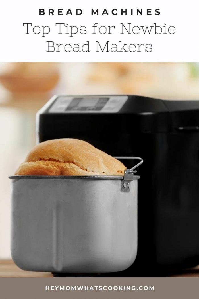 Pinterest image of tips for new to bread machine users