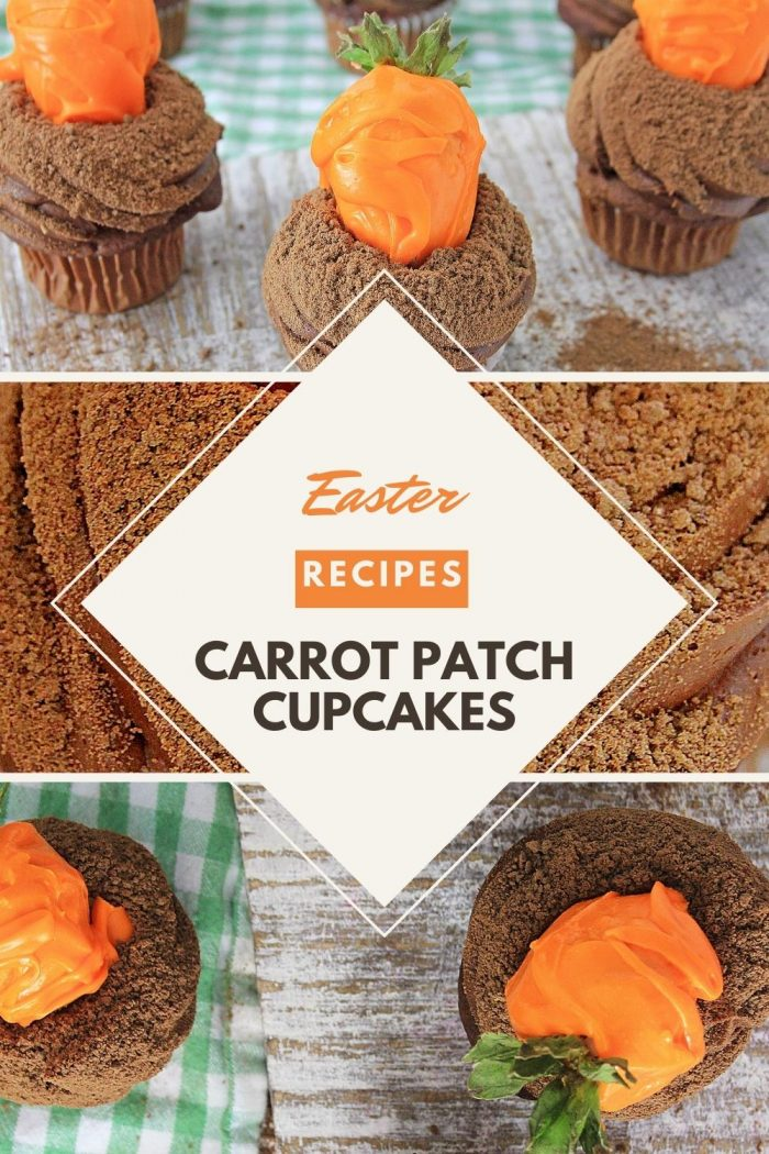 pinterest collage of carrot patch cupcakes