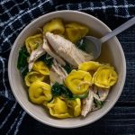Leftover Turkey and Tortellini Soup