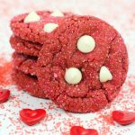 Easy Red Velvet Valentines Cookies from Cake Mix