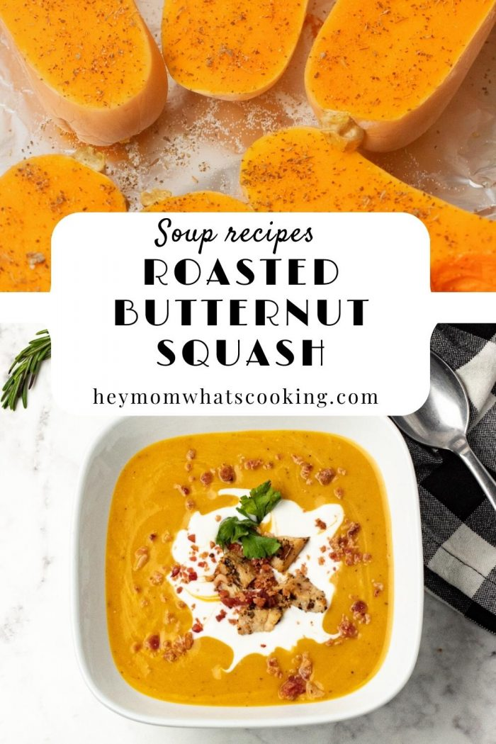 hey mom whats cooking pin for roasted butternut squash soup