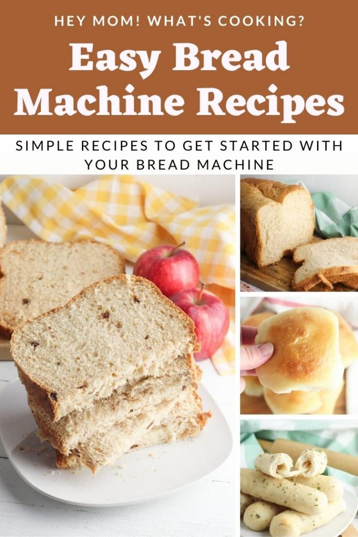 Easy Bread Machine Recipes for getting started using your machine from Hey Mom What's Cooking