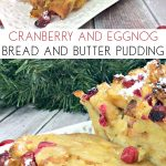 Pinnable image for christmas bread and butter pudding