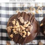 pinterest image for toffee and mini marshmallow hot cocoa bombs from hey mom whats cooking
