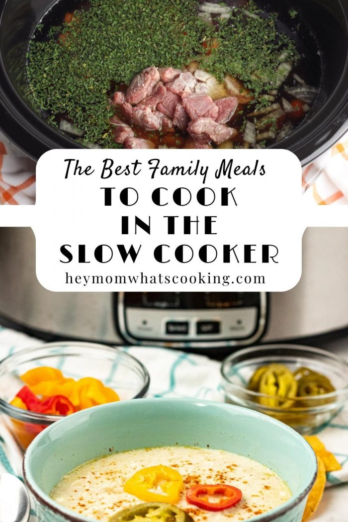 The best family meals to cook in the slow cooker pinterest image from hey mom whats cooking
