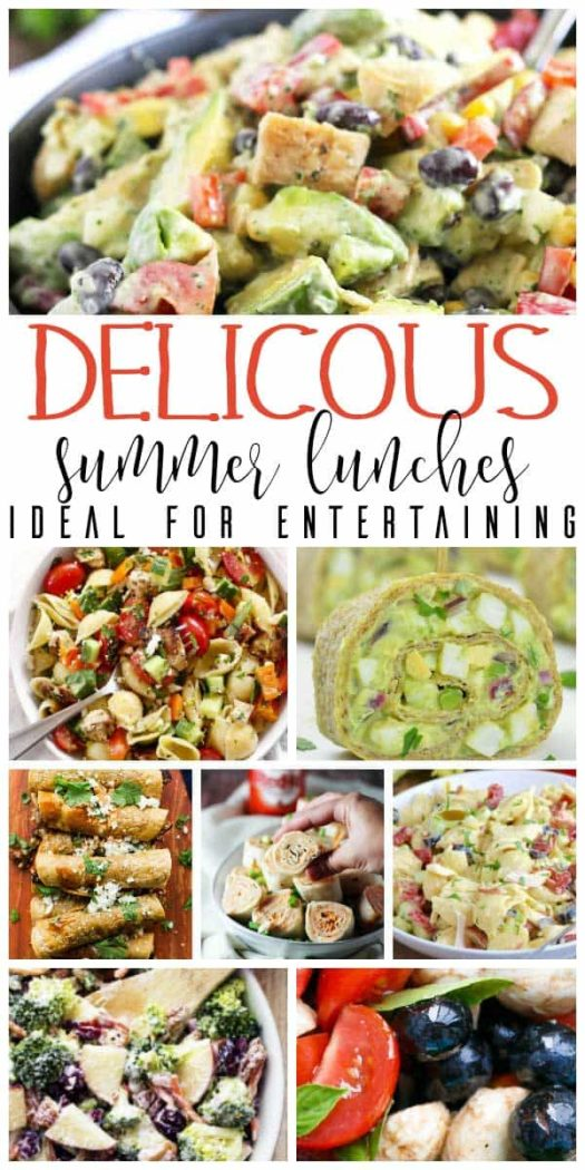 Pinnable image for delicious summer lunches for families