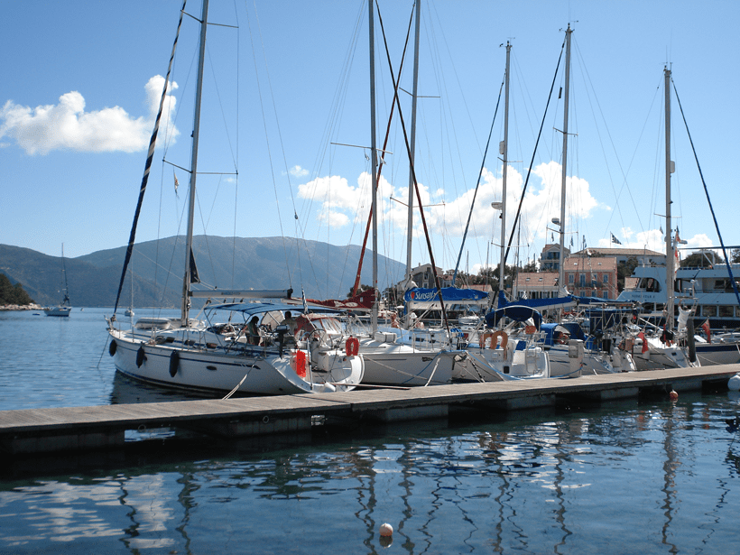 fiskado harbour with sunsail yatches