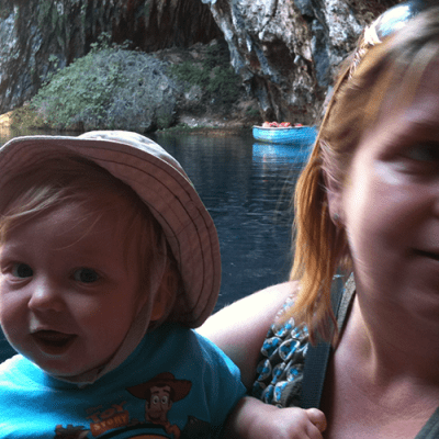 Melissani Lake with Toddlers